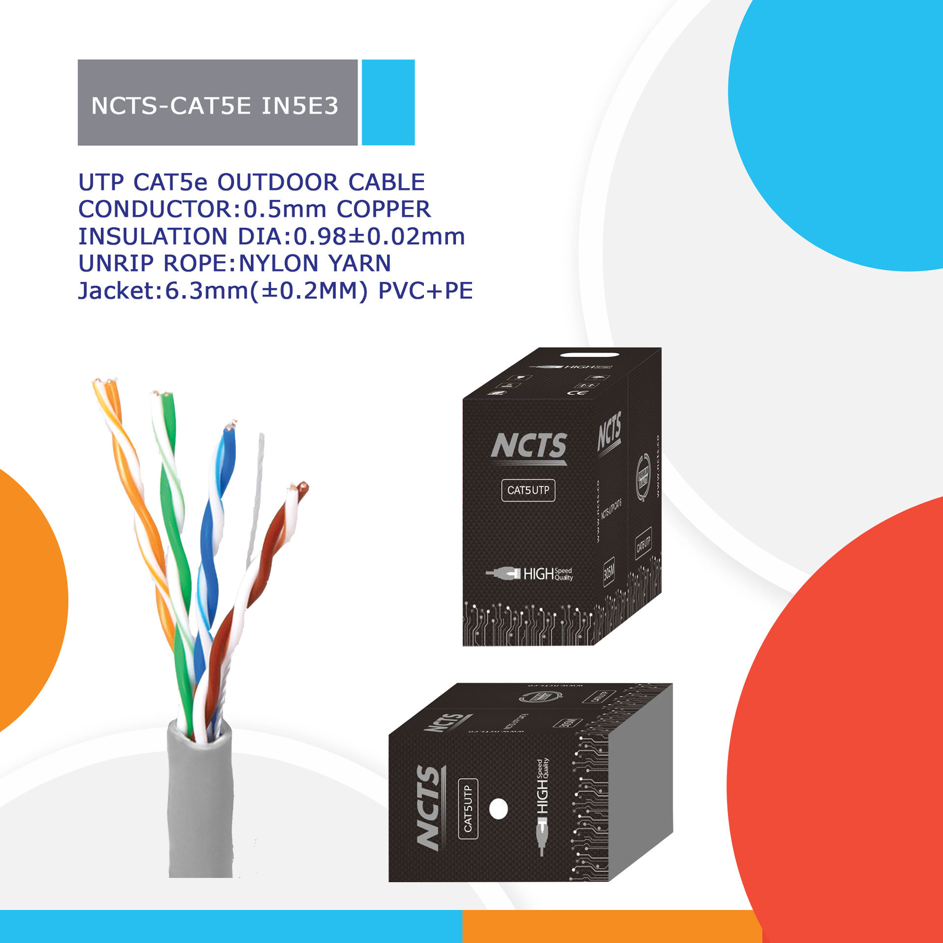 NCTS-CAT5E IN5E3